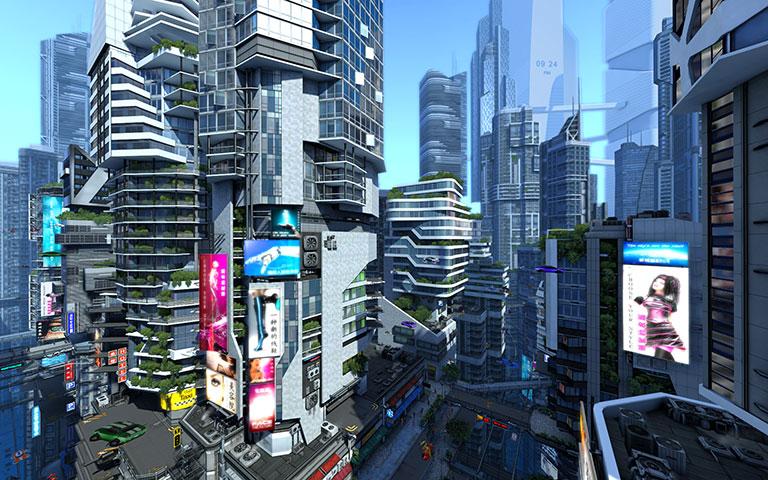 http://ru.3planesoft.com/img/futuristiccity_widescreen01.jpg
